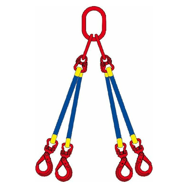 Banyo - Elingue cable 2 m 4 brins, WLL 6300 kg jusqu'a 45° 4500 kg jusqu'a 60°