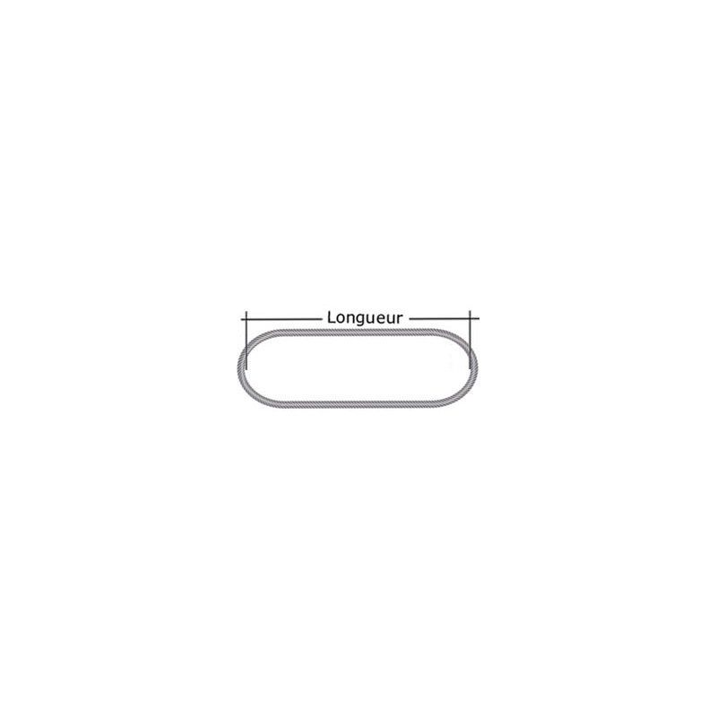 Elingue câble grelin 10000 kg - Longueur : 2M5