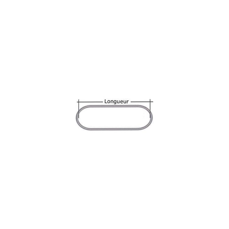 Elingue câble grelin 9000 kg - Longueur : 2M5