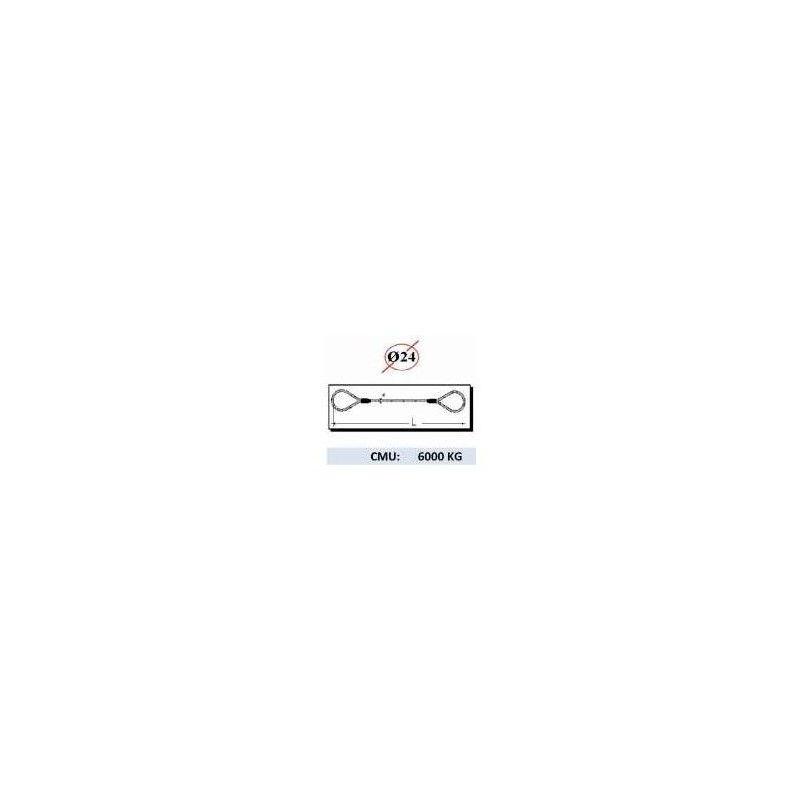 Websilor - Elingue manchonnée 6000 kg - Longueur : 3M