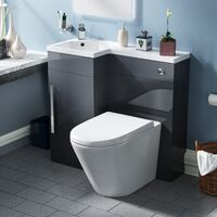 Ellen Back To Wall Toilet WC Unit with Concealed Cistern