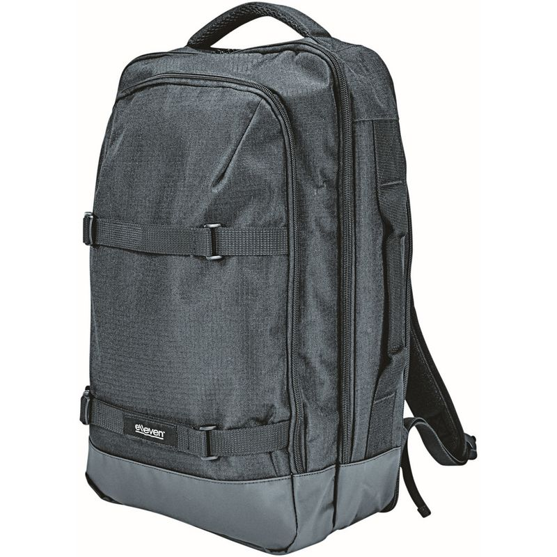 Image of Multi 2-Strap Laptop Backpack (One Size) (Solid Black) - Elleven