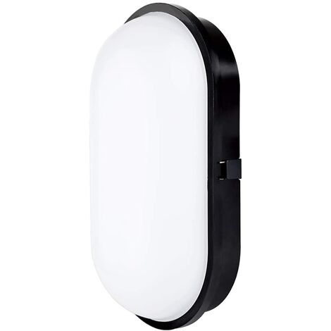 """main image of """"Elliptical Partition Lamp Ceiling Wall Sconce Lighting Fixture, 20W 3000K 1600LM IP65, For Indoor and Outdoor - Black - 1 pack"""""""