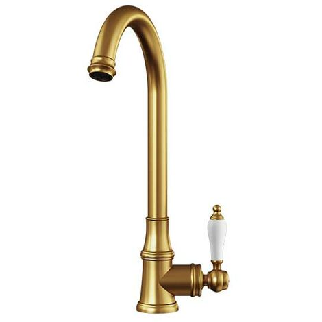 Ellsi Elect Traditional Style Kitchen Sink Mixer Tap with Swivel Spout Gold Finish