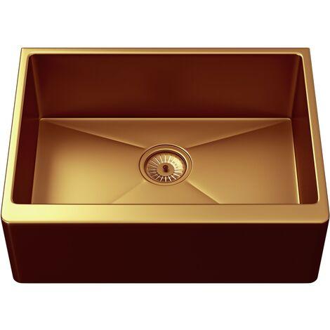 "main image of ""Ellsi Excel Single Bowl Belfast Style Sink & Waste Copper"""