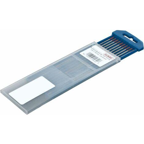 ELMAG Wolfram-Elektrode Type 'E-WC 20', 'grau' 1,0 x 175 mm - Universal, W 98% + 2% CeO2, 10 Stk. Packung - SB