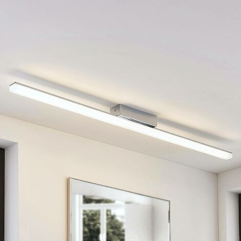Elongated LED ceiling lamp Levke, IP44