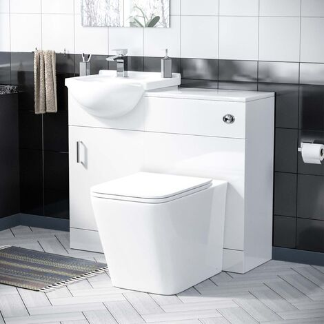 Elora Cloakroom Basin 950 mm Vanity Unit and WC Toilet Suite