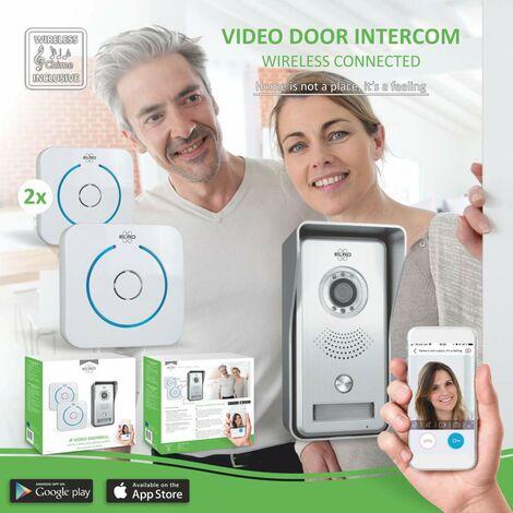 """main image of """"ELRO DVC040IP2 Interphone portier vidéo IP - Caméra avec Vision Nocturne - avec 2 Gongs de Porte - Communication avec vidéo Live via app - Gris"""""""