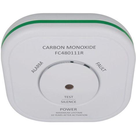 ELRO ELRO Connects FC4801R Funk CO-Melder, Vernetzbarer Kohlenmonoxidmelder - nach DIN EN50291, Weiß