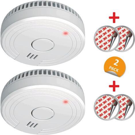 ELRO ELRO FS1805 2-Pack Rauchmelder mit Magnetklebe Kit, 5 Jahre Batterie und Garantie/ DIN EN14604, Weiß, 2 Stück