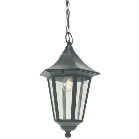 "main image of ""Elstead - 1 Light Outdoor Ceiling Chain Lantern Black IP54, E27"""