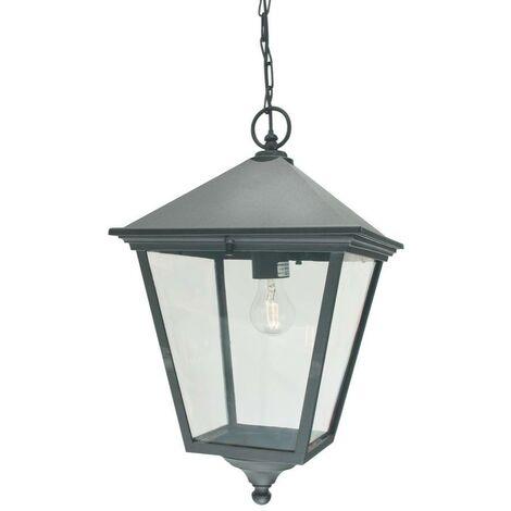 Elstead - 1 Light Outdoor Ceiling Chain Lantern Black IP54, E27
