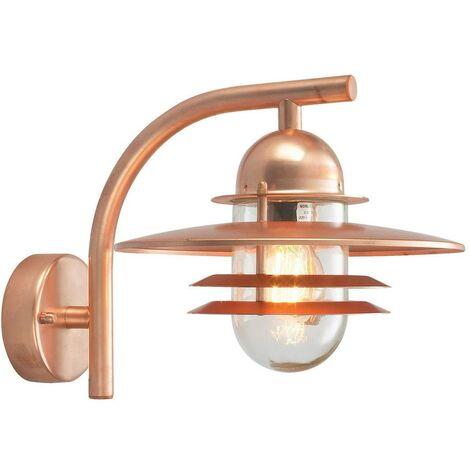 Elstead - 1 Light Outdoor Dome Wall Lantern Light Copper IP55, E27