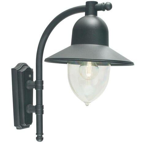 Elstead - 1 Light Outdoor Fisherman Dome Wall Lantern Light Black IP54, E27