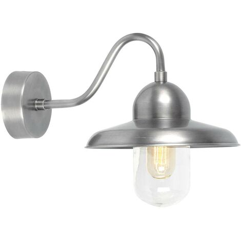 Elstead - 1 Light Outdoor Fisherman Dome Wall Light Antique Nickel IP44, E27