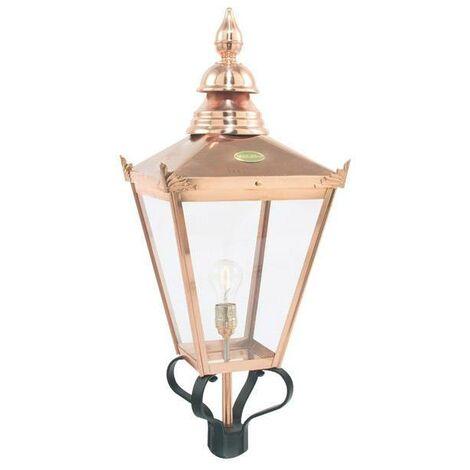 Elstead - 1 Light Outdoor Post Lantern Copper, 50,61 IP44, E27