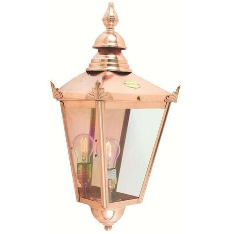 Elstead - 1 Light Outdoor Wall Half Lantern Light Copper IP44, E27