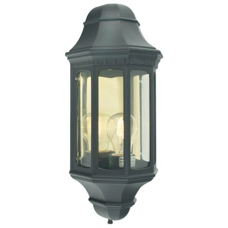Elstead - 1 Light Outdoor Wall Lantern Black IP44, E27