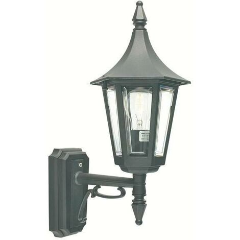 Elstead - 1 Light Outdoor Wall Lantern Light Black IP44, E27