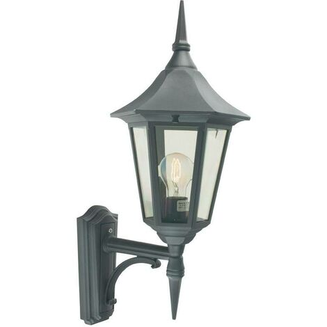 Elstead - 1 Light Outdoor Wall Lantern Light Black IP54, E27