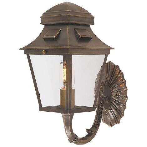 Elstead - 1 Light Outdoor Wall Lantern Light Brass IP44, E27