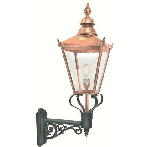 Elstead - 1 Light Outdoor Wall Lantern Light Copper IP44, E27