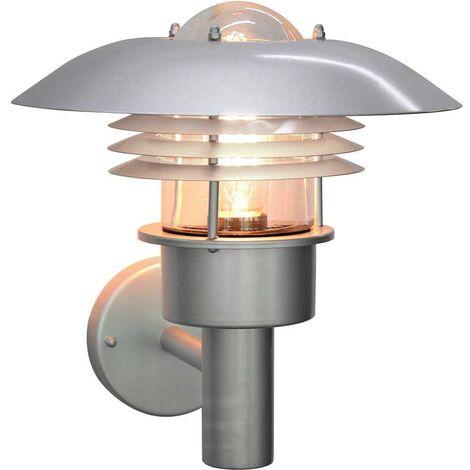Elstead - 1 Light Outdoor Wall Lantern Light Silver, 304 SS IP44, E27