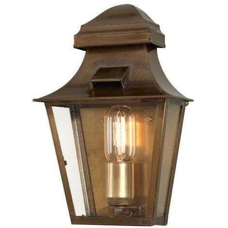 Elstead - 1 Light Outdoor Wall Lantern Light Solid Brass IP44, E27