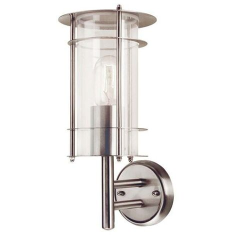 Elstead - 1 Light Outdoor Wall Lantern Light Stainless Steel IP43, E27