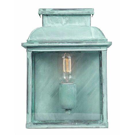 Elstead - 1 Light Outdoor Wall Lantern Light Verdigris IP44, E27