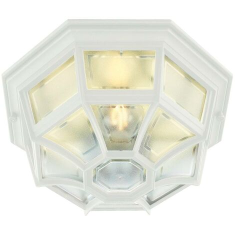Elstead - 1 Light Outdoor Wall Lantern Light White IP44, E27