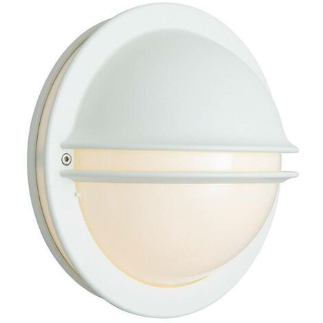 Elstead - 1 Light Outdoor Wall Lantern Light White IP54, E27