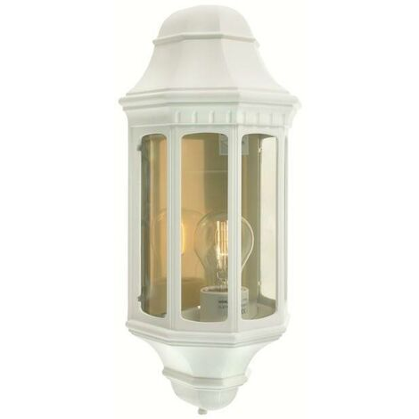Elstead - 1 Light Outdoor Wall Lantern White IP44, E27