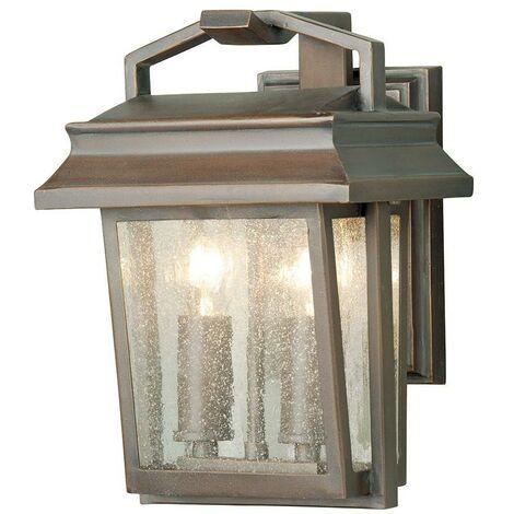 Elstead - 2 Light Outdoor Wall Lantern Light Aged Bronze IP44, E14
