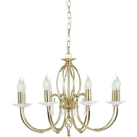 Elstead Aegean - 8 Light Chandelier Polished Brass Finish, E14