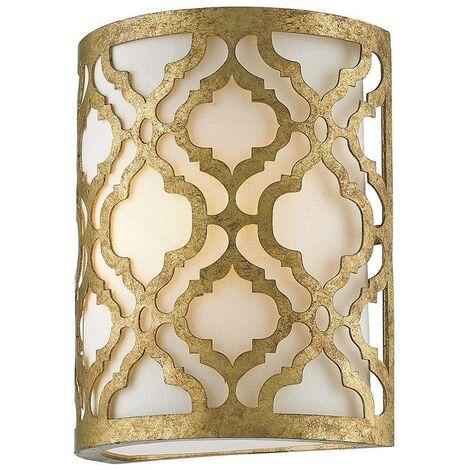 Elstead Arabella - 1 Light Indoor Wall Light Gold, E27