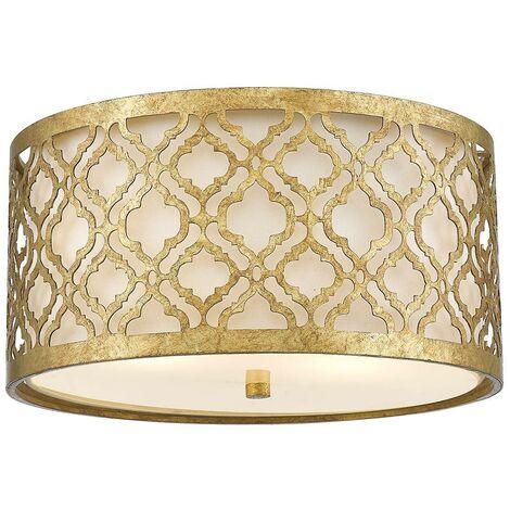 Elstead Arabella - 2 Light Flush Mount Ceiling Light Gold, E27