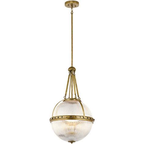 Elstead Aster - 3 Light Globe Ceiling Pendant Brass, E14