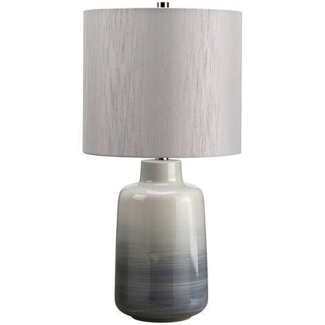 Elstead Bacari - 1 Light Small Table Lamp Grey, Blue, E27