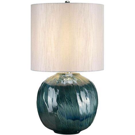 Elstead Blue Globe - 1 Light Table Lamp Blue, E27