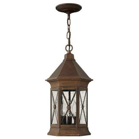 Elstead Brighton - 3 Light Outdoor Ceiling Chain Lantern Sienna IP44, E14