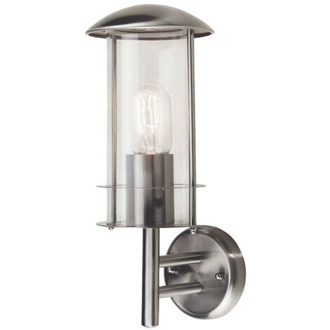 """main image of """"Elstead Bruges - 1 Light Outdoor Wall Lantern Light Stainless Steel IP44, E27"""""""