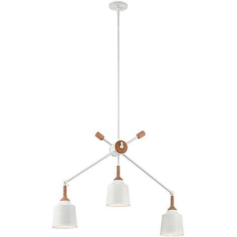 Elstead Danika - 3 Light Ceiling Chandelier Pendant Bar Light White, E27