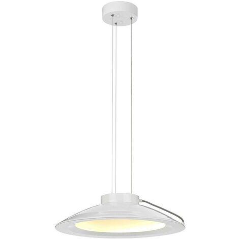 Elstead Europa - LED 1 Light Medium Dome Ceiling Pendant White Painted Finish