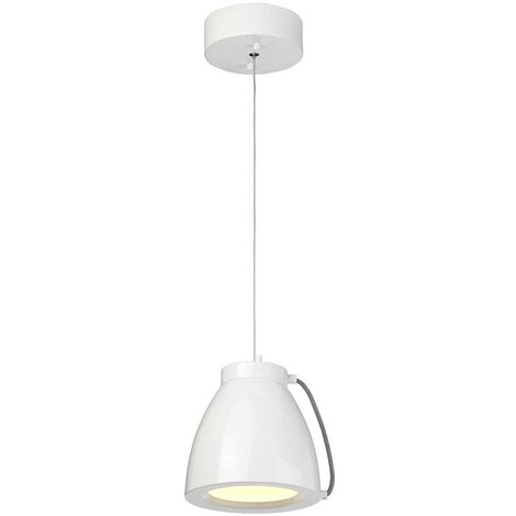 Elstead Europa - LED 1 Light Small Dome Ceiling Pendant White Painted Finish