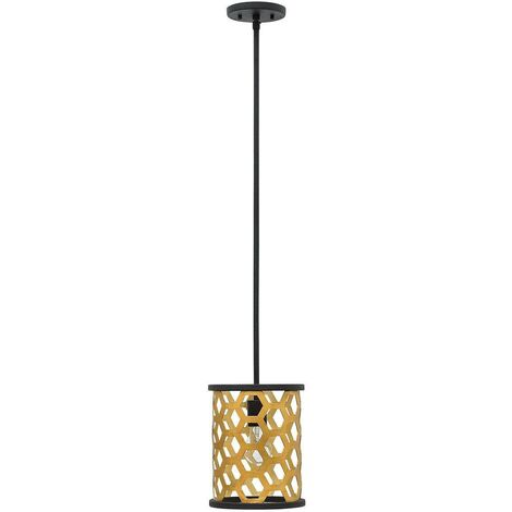 Elstead Felix - 1 Light Ceiling Mini Pendant Gold, E27