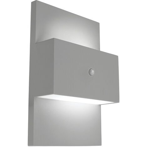 Elstead Geneve Outdoor 1 Light Wall Light with PIR Aluminium, E27