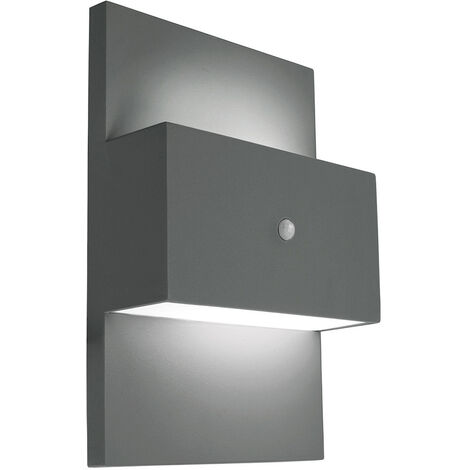Elstead Geneve Outdoor 1 Light Wall Light with PIR Graphite, E27