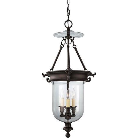 Elstead Luminary - 3 Light Ceiling Chandelier Pendant Light Bronze, E14